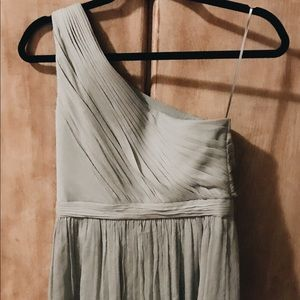 J. Crew Dusty Shale Chiffon Dress